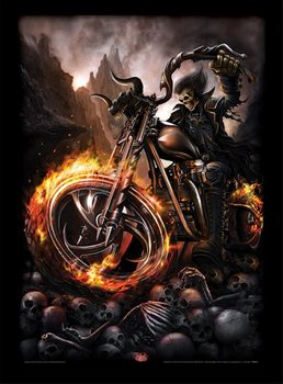 Spiral - Wheels of Fire Framed poster