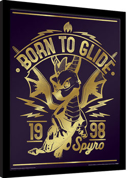 Spyro - Gold Born To Glide Framed poster