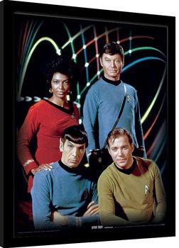 Star Trek - Kirk, Spock, Uhura & Bones Framed poster