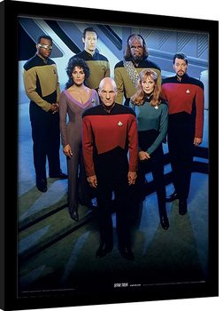 Framed poster Star Trek: The Next Generation - Enterprise Officers