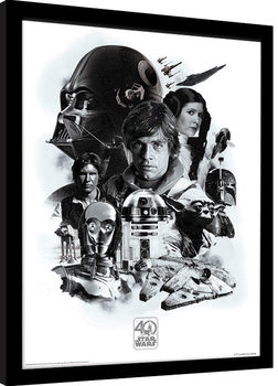 Star Wars 40th Anniversary - Montage Framed poster