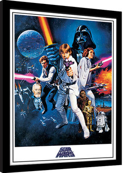 Framed poster Star Wars: A New Hope - One Sheet