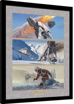 Framed poster Star Wars - Battle on Hoth