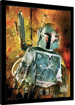 Star Wars - Boba Fett Painted Framed poster