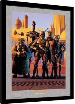 Framed poster Star Wars - Bounty Hunters