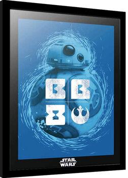 Framed poster Star Wars: Episode IX - The Rise of Skywalker - BB-8 Blue