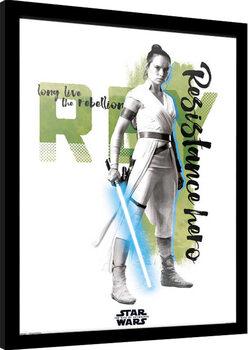 Framed poster Star Wars: Episode IX - The Rise of Skywalker - Rey