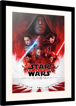 Framed poster Star Wars: Episode VIII - The Last of the Jedi - One Sheet