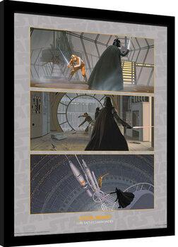 Framed poster Star Wars - Luke Battles Darth Vader