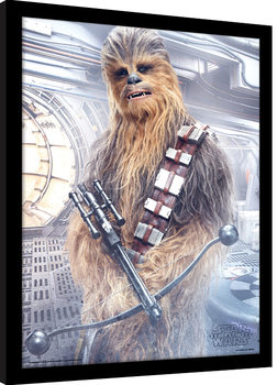 Star Wars The Last Jedi - Chewbacca Bowcaster Framed poster