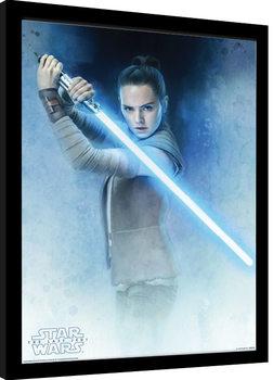 Star Wars The Last Jedi - Rey Lightsaber Guard Framed poster