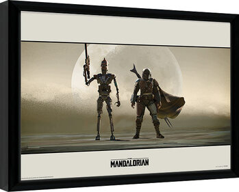 Framed poster Star Wars: The Mandalorian - Duo
