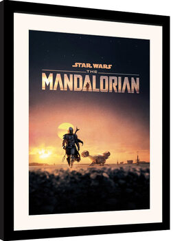 Framed poster Star Wars: The Mandalorian