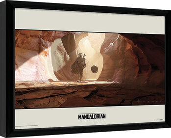 Star Wars: The Mandalorian - Journey Framed poster