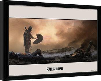 Framed poster Star Wars: The Mandalorian - Meet