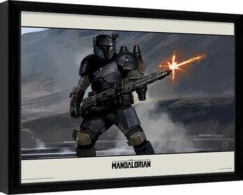 Framed poster Star Wars: The Mandalorian - Shoot
