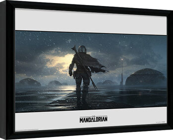 Framed poster Star Wars: The Mandalorian - Storm
