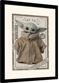 Framed poster Star Wars: The Mandalorian - The Child