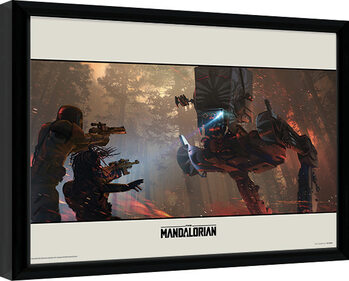 Star Wars: The Mandalorian - Walker Framed poster