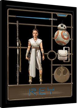 Framed poster Star Wars: The Rise of Skywalker - Rey Model