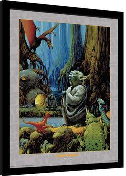 Framed poster Star Wars - Yoda