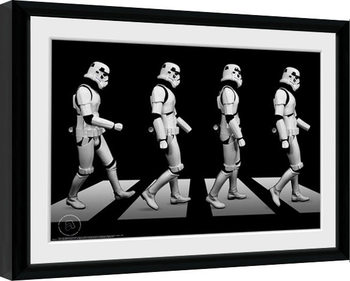 Framed poster Stormtrooper - Crossing