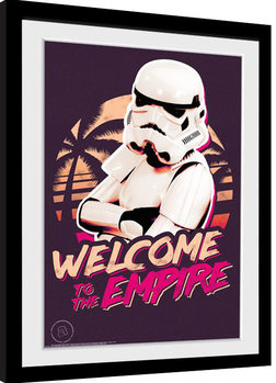 Framed poster Stormtrooper - Neon