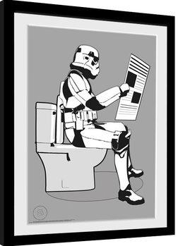 Stormtrooper - Storm Pooper Framed poster