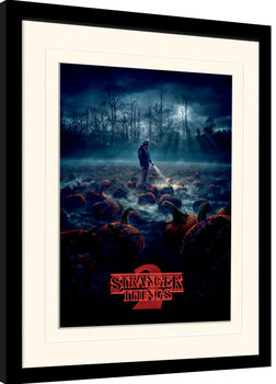 Stranger Things - Pumpkin Patch Framed poster