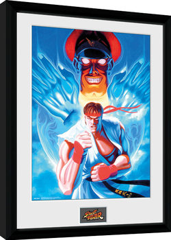 Street Fighter - Ryu and Bison Framed poster