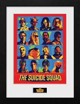 Framed poster Suicide Squad - Bunch