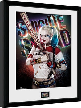 Suicide Squad - Harley Quinn Good Night Framed poster