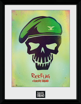 Suicide Squad - Rick Flag Skull Framed poster