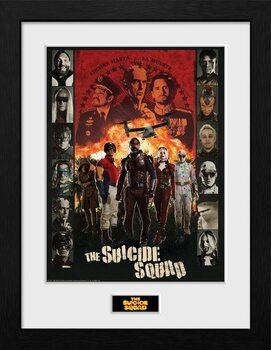 Framed poster Suicide Squad - Team
