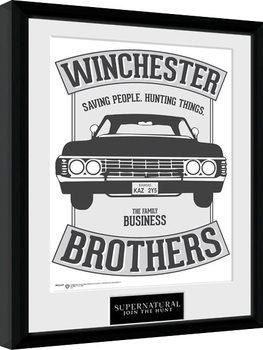 Framed poster Supernatural - Winchester