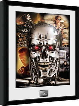 Terminator 2 - Collage Framed poster