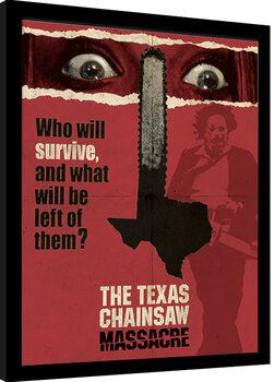 Framed poster Texas Chainsaw Massacre - Newsprint