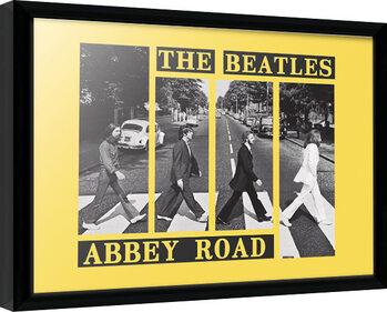 Framed poster The Beatles - Abbey Road Crosswalk