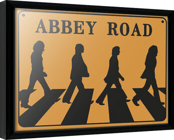 Framed poster The Beatles - Abeey Road Sign