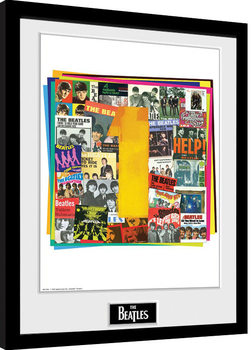 The Beatles - No1 Albums Framed poster