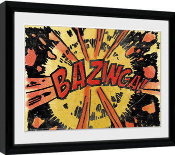 The Big Bang Theory - Bazinga Comic Framed poster