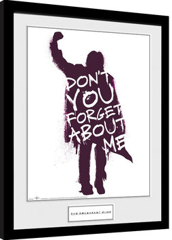 The Breakfast Club - Don't You Forget About Me Framed poster