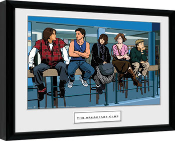 The Breakfast Club - Illustration Characters Framed poster