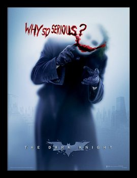 The Dark Knight - Why So Serious? Framed poster