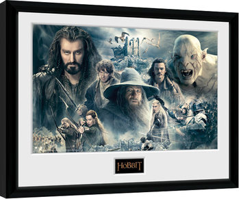 The Hobbit - Battle of Five Armies Collage Framed poster
