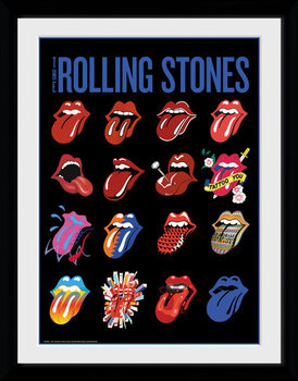 The Rolling Stones - Tongues plastic frame