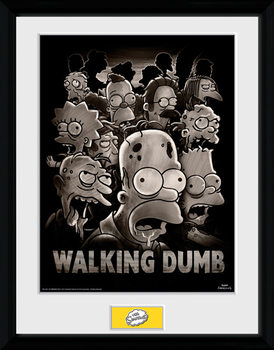 The Simpsons - The Walking Dumb plastic frame