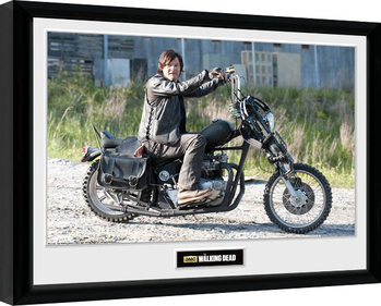 Framed poster THE WALKING DEAD - Daryl Bike