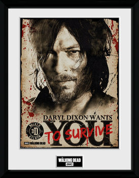 The Walking Dead - Daryl Needs You plastic frame