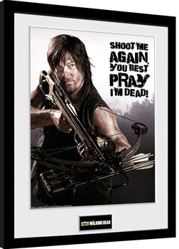 Framed poster The Walking Dead - Daryl Shoot Me